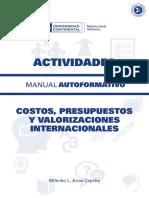 A0005 MA Costos Presupuestos y Valorizaciones Internacionales ACT ED1 V1 2016