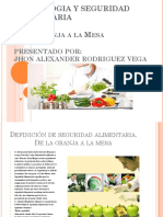 Toxicologia y Seguridad Alimentaria en Power Point