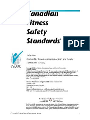 Canadian-Fitness-Safety-Standards pdf | Physical Fitness