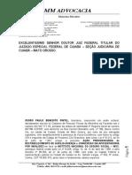 01 - 9151-93.2017.4.01.3600 - Pedro Paulo Benedito Pintel - Inicial - Reestabelecimento de Auxílio Doença