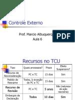 Aula 06 de 06 (Atualizado) - Controle Externo - Prof[1]. Marcio