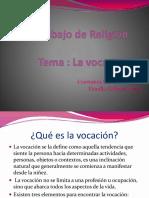 Trabajo de Religión La Vocación