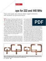 Copper Loops for 222 and 440MHz