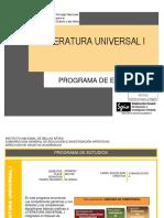 Programa de Estudio - Literatura Universal 1 (INBA)