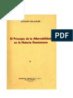 Balaguer - El Principio de Alternabilidad en La Historia Dominicana