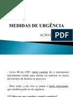 Medidas de Urgencia - Ação Cautelar_Fasete_B