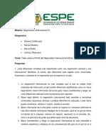 Taller Negocios III Perfil Del Negociador Internacional Eficaz.