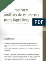 Preparación y Análisis de Muestras Metalográficas