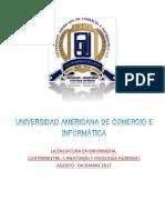 Antologia de Anatomia y Fisiologia Humana i. 2017. (1)
