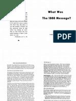 1888 Cual Fue El Mensaje