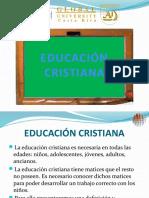 La educación cristiana