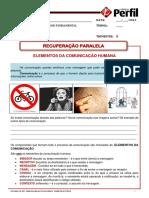 Atividade de Rec.paralela REDACAO 6Ano Elementos Da Comunicacao