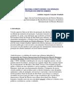 Direito Interno e Internacional & Proteção de DHs - Cançado Trindade