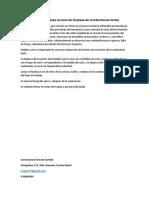 Especificaciones Técnicas Servicio de Limpieza de Combustiones Lentas