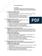 BA 243 Guidelines for the Progress Report