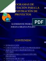 Programas de Computación Para La Admón de Proyectos.