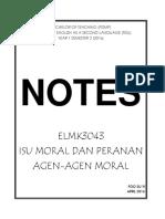 Elmk3043 Isu Moral Dan Peranan Agen Agen Moral