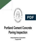 Portland Cement Concrete Paving Inspection