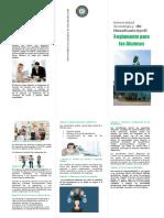 Universidad Tecnológica de Nezahualcóyot Reglamento para los Alumnos (Triptico)