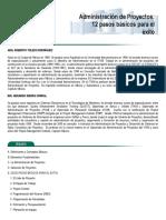 Temario del diplomado en Administración de proyectos (ITAM).
