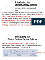 Closed System Exergy Balance(1)