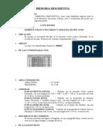 Memoria Descriptiva San Felipe Sub Division