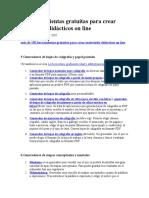150 Herramientas Gratuitas Para Crear Materiales DidáCticos on Line Taller 4
