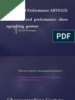 Gesture Reading Performance