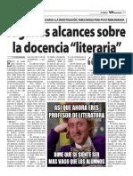 """La docencia """"literaria"""""""