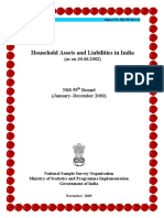 500_Household Assets and Liabilities in India