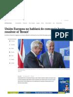 5- Unión Europea No Hablará de Comercio Hasta Resolver El Brexit - ELTIEMPO