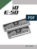 E-50, E-60 manual inglês
