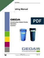 Käyttöohje Geda-roskakuilu Eng