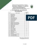 Daftar Alkes Poli Umum