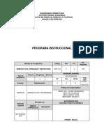 Programa Instruccional Derecho Civil Personas y Protección