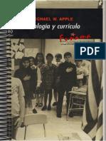 Ideologia y currículo por Michael W. Apple
