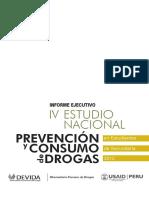 Informe Ejecutivo IV Estudio Nacional Prevención y Consumo de Drogas en Estudiantes de Secundaria 2012