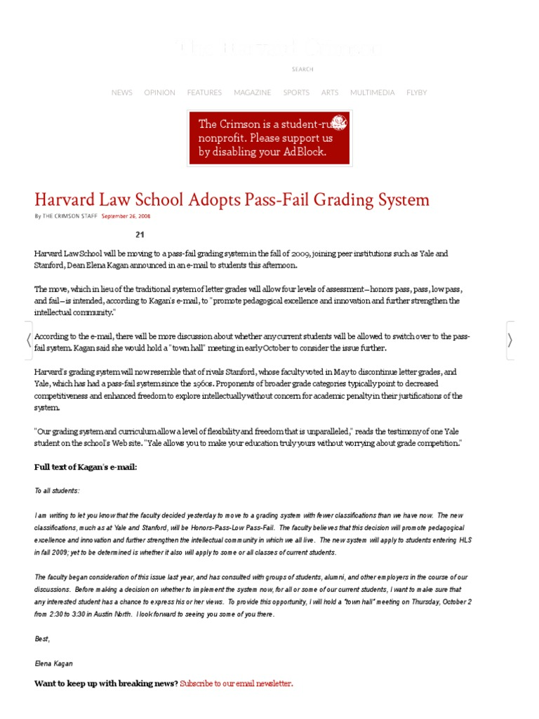 what is a pass fail grading system