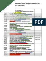 Calendario Actividades Fisio Humana 2017