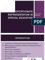 disproportionate representation in special education