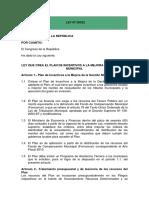 Plan de Incentivos a Las Municipalidades