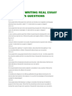 Academic Writing Real Essay 2013