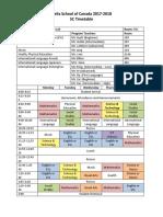 5c schedule pdf