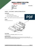 D081_TSB_017 Light Density Toner Scattering or SC4XX