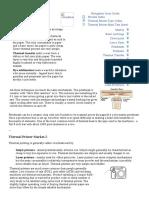Thermal Printing Processes