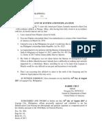 Affidavit of Justification(Oath of Allegiance)