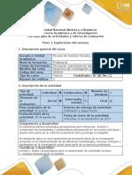 Guia de Actividades y Rubrica de Evaluación - Paso 1 - Exploración Del Entorno