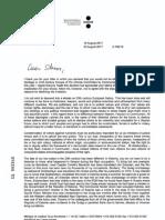 Απαντητική επιστολή Υπουργού Δικαιοσύνης Εσθονίας προς Σταύρο Κοντονή