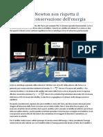 Gravità e Principio Conservazione Energia