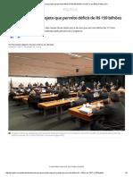Comissão aprova projeto que permite déficit de R$ 159 bilhões em 2017 e em 2018 _ Política _ G1